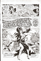 Elvira Center of the Earth splash Comic Art