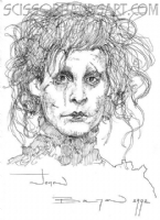 John Bolton � Edward Scissorhands Comic Art