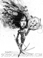 Tim Burton Illustration for Spin Magazine Comic Art