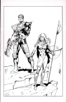 Cable & Hope Summers commission Comic Art