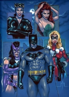 Batman and the  Gotham Girls  Comic Art