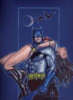Batman / Vampirella Comic Art