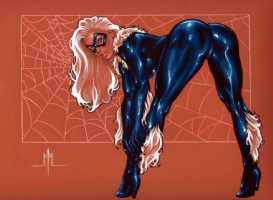 Black Cat Comic Art