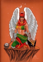 Hawkgirl Comic Art