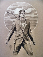 Brandon Routh Clark Kent / Superman Comic Art
