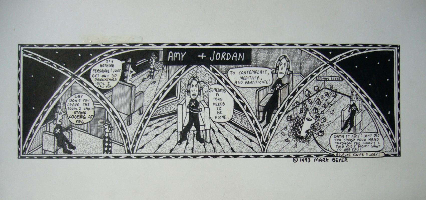 Beyer - Amy & Jordan Comic Art