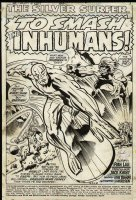 Silver Surfer 18 p.1 splash Jack Kirby/Trimpe Comic Art