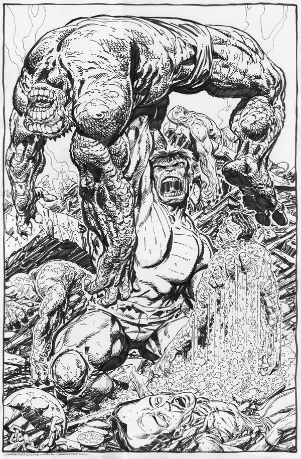 Byrne - Hulk Win! Comic Art