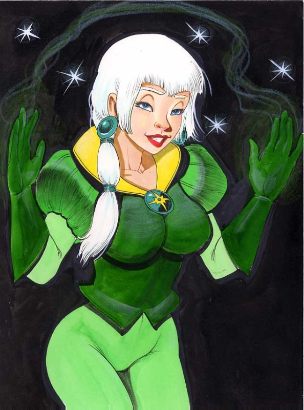 (Middle) Princess Emerald of Gemworld by Blair/Walbridge (Amethyst character) Comic Art