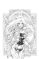 Witchblade #175 cover by Laura Braga, Comic Art