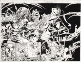 Witchblade #59 pages 06-07, Comic Art