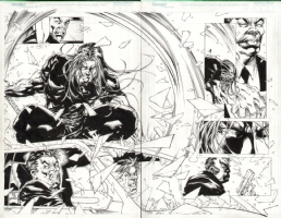 Witchblade #1/2 pages 04-05 Comic Art