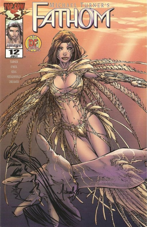 Fathom #12 remarked by Michael Turner Comic Art