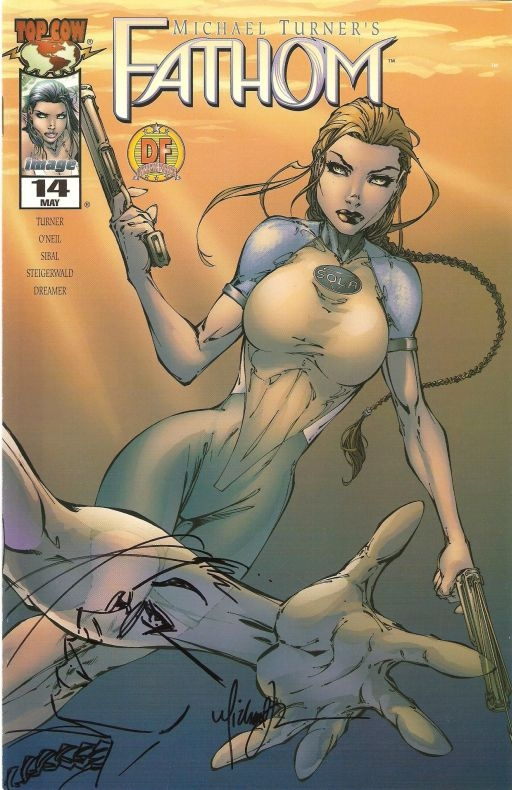 Fathom #14 remarked by Michael Turner Comic Art
