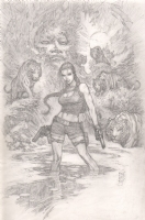 Tomb Raider commission by Marc Silvestri, Comic Art