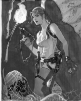 Lara Croft by Adam Hughes, Comic Art