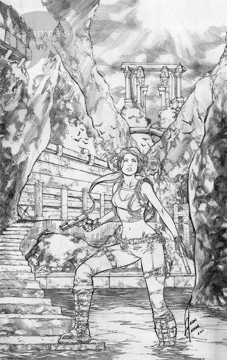 Tomb Raider Lara Croft by Cesar Gonzales Comic Art
