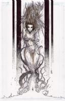 Witchblade Sara Pezzini by Giuseppe Cafaro, Comic Art
