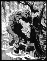 Batman Swampthing Bo Hampton Comic Art