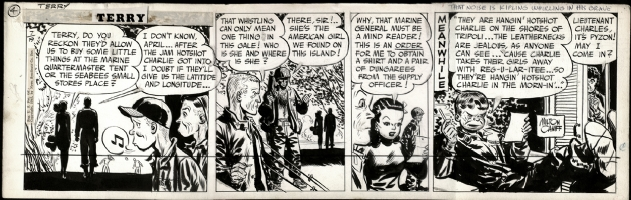 Milton Caniff. Terry and the Pirates 07-11-1945 Comic Art