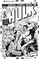 Incredible Hulk 181 Cover Recreation (Trimpe) Comic Art