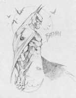 Joe Mad' BATMAN sketch Comic Art