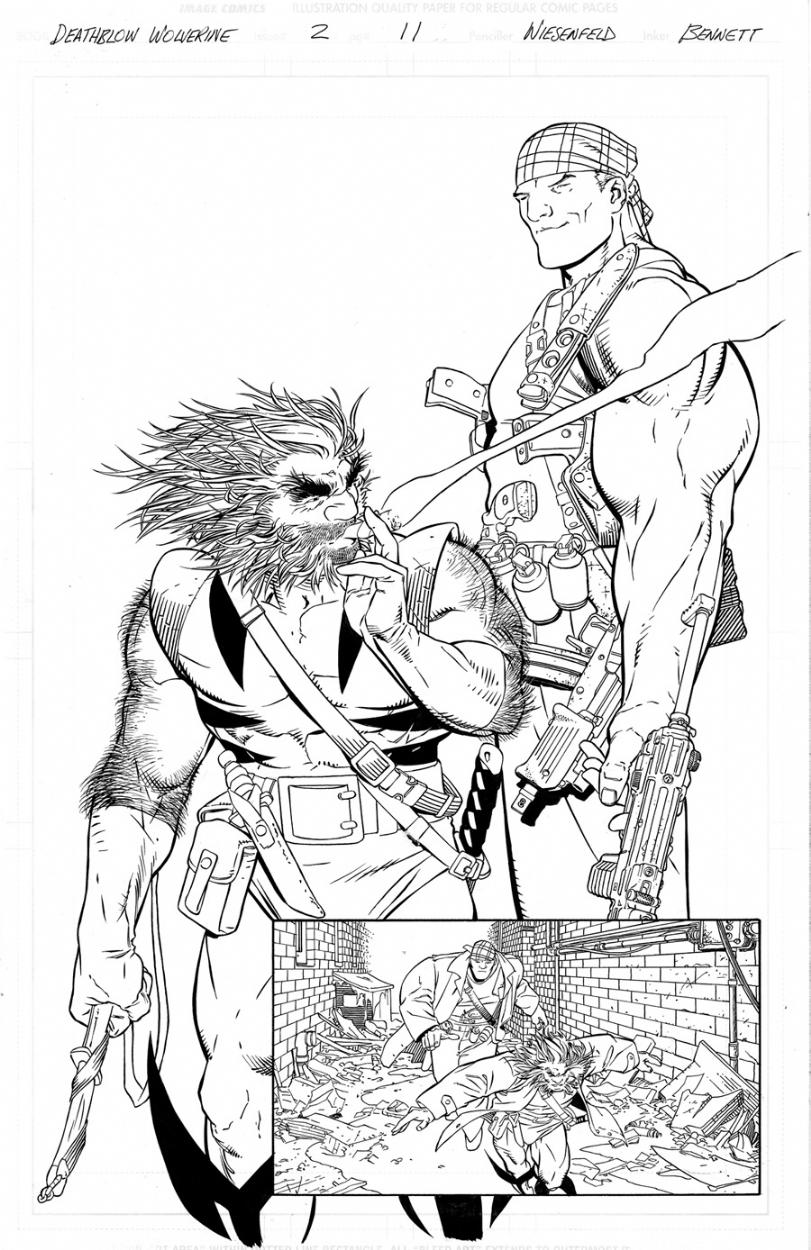 Aron Wiesenfeld/Bennett DEATHBLOW/WOLVERINE splash Comic Art