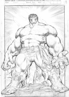 Dale Keown unused HULK splash Comic Art
