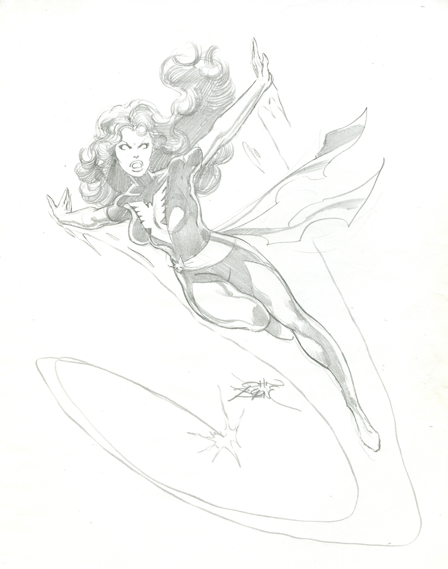 John Byrne DARK PHOENIX Comic Art