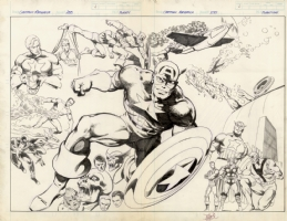 John Byrne CAPTAIN  AMERICA DPS Comic Art