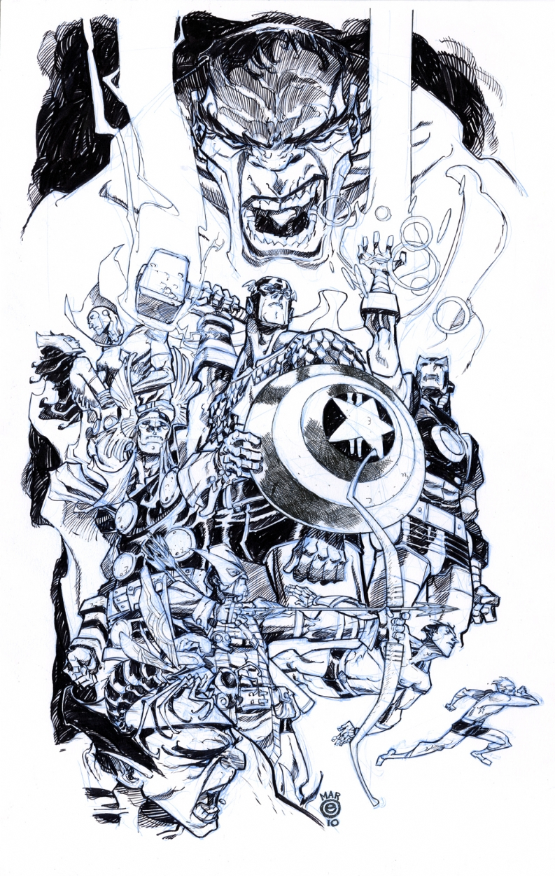 Canete AVENGERS Comic Art