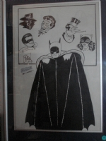 BOB KANE BATMAN, ROBIN & VILLIANS Comic Art