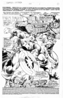 Wyman / Barnett - Captain America 423, pg 1, Title Splash Comic Art