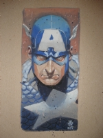 J.G. Jones, Captain America Painting Comic Art