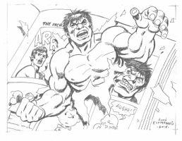 Hulk Newspaper Strip Commission by Kupperberg 2014, Comic Art