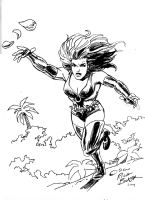 Thorn commission by Rich Buckler 2014, Comic Art