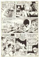 BATGIRL page 8 from Detective Comics 495 by Jose Delbo and Frank Chiaramonte 1980, Comic Art