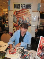 Mike Perkins at NC Comicon 2015, Comic Art