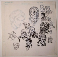 Sketch page by Don Heck, Comic Art