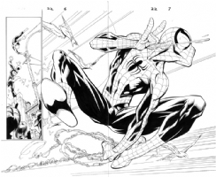 Mark Bagley - Ultimate Spider-Man 22 pg. 6-7 Comic Art