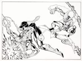 Mark Bagley - Wizard 26 Cover Art  (Spider-Man vs Green Goblin) Comic Art