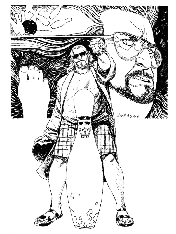 The Big Lebowski: by Dave Johnson Comic Art