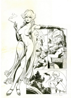 Naga la maga (Shatane in France) by Leone Frollo. Edifumetto Cover 1976 (wonderful nude / nudity) by the master Comic Art
