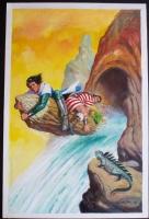 Portada para Gran Album Capit�n Trueno n� 2 por Antonio Bernal . Bruguera 1982 Comic Art
