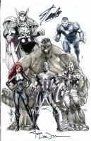 Avengers Jam Comic Art