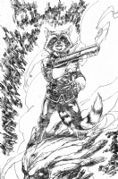 Rocket Raccoon and Groot by Brett Booth Comic Art