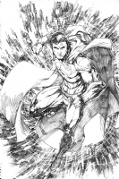 Superman by Brett Booth Comic Art