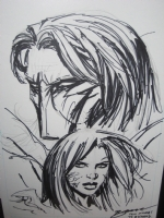 Darkness and Witchblade Comic Art