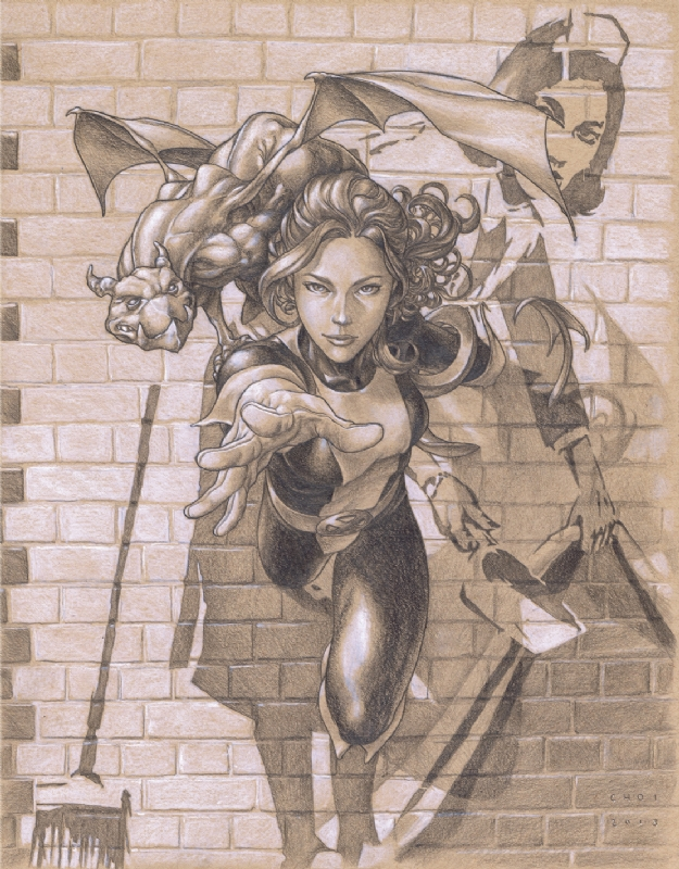 Kitty Pryde and Lockheed by Mike Choi Comic Art