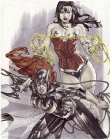 GRAIL! Wonder Woman and Batgirl by Eric Ebas Basaldua, Comic Art